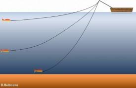 Führungstiefe beim Schleppfischen (Bild: B. Heitmann)