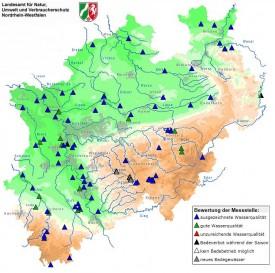 Badegewässer in NRW (Quelle: LANUV-NRW)