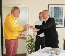Jan erhält Auszeichnung auf Landesebene