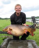 Steffen mit 18kg Karpfen
